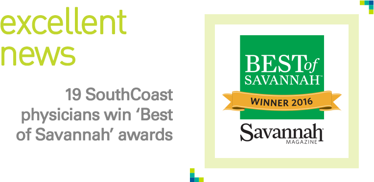 Excellent News: 9 SouthCoast physicians win Best of Savannah awards