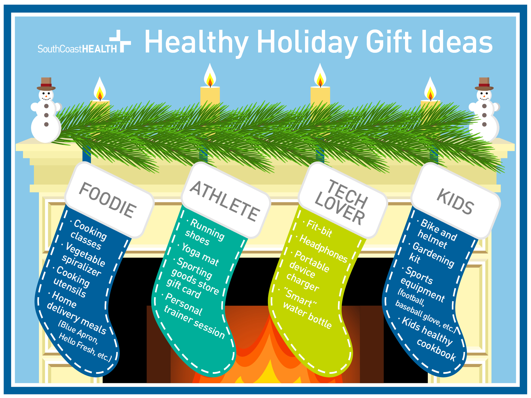 SouthCoasth Health Healthy Holiday Gift Ideas.