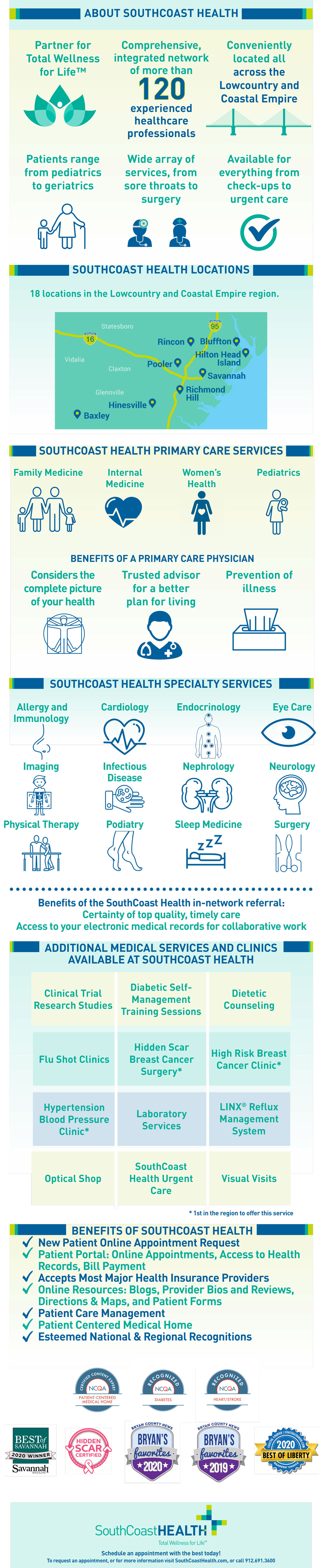 About SouthCoast Health - infographic